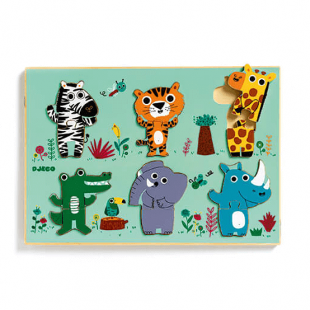 wooden animal jigsaw puzzle toy