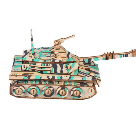 wooden tank 3d puzzle