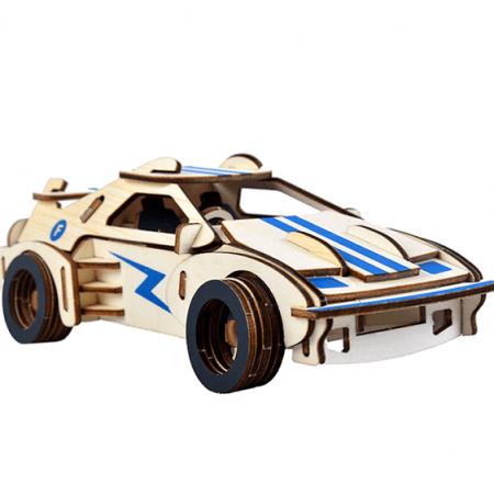 wooden 3d sports car puzzle