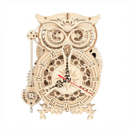 wooden 3d clock puzzle