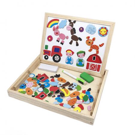 wooden farm magnet board