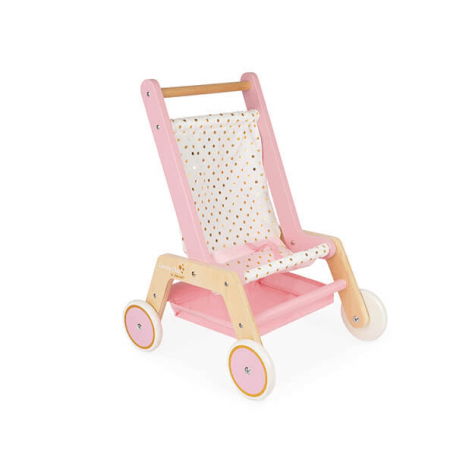 wooden dolls stroller toy