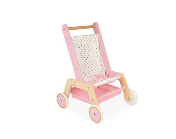 wooden dolls stroller toy