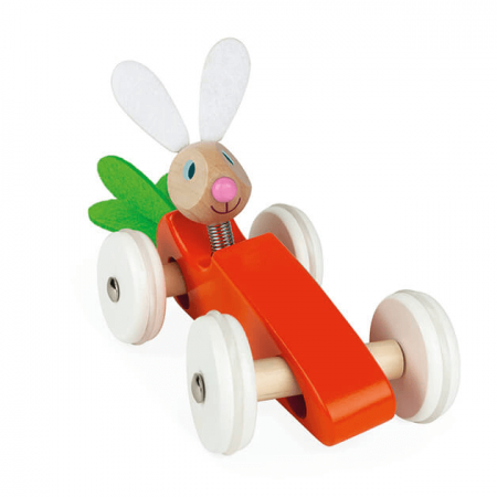 wooden rabbit car toy