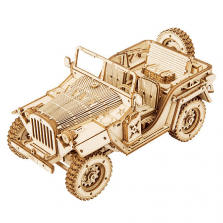 wooden army jeep 3d puzzle