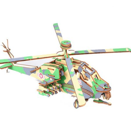 wooden 3d helicopter puzzle