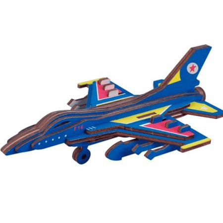 wooden 3d jet plane puzzle