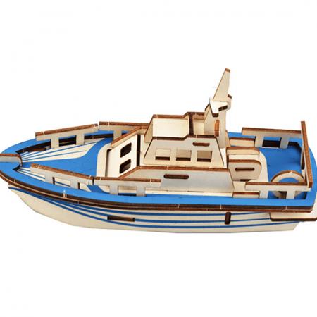wooden 3d boat puzzle