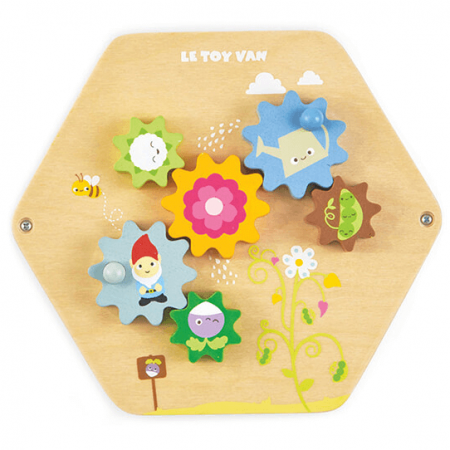 wooden activity tiles toy