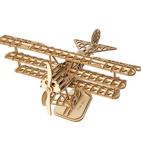 wooden 3d plane puzzle