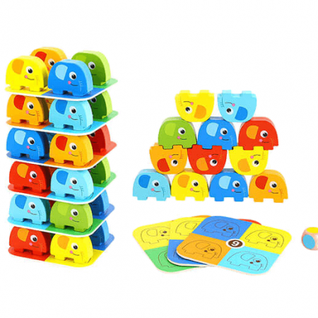 wooden elephant game