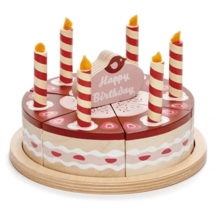 wooden cake toy
