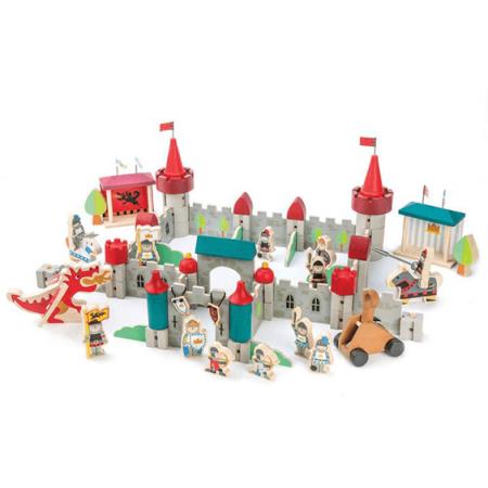 wooden castle toy set