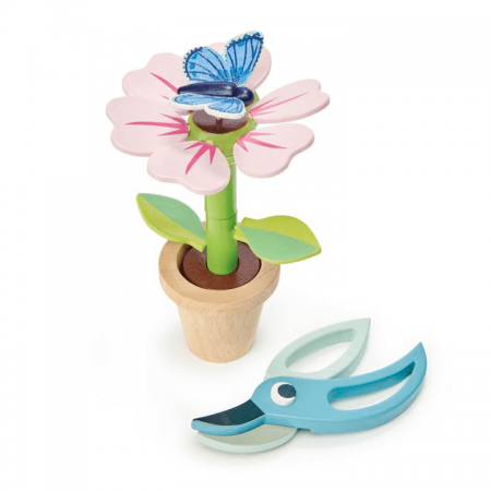 wooden flower toy