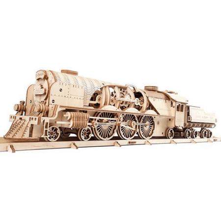 wooden 3d train puzzle