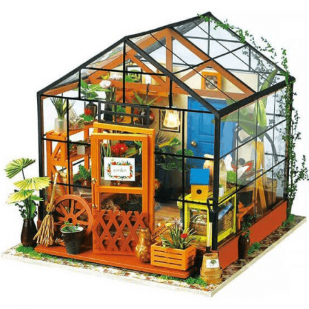wooden green house 3d puzzle