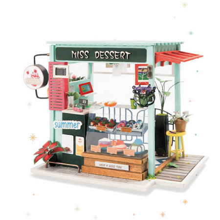 wooden ice cream shop 3d puzzle