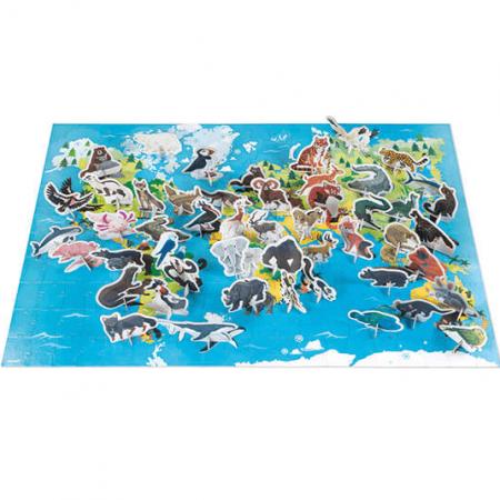 wooden dinosaur jigsaw puzzle