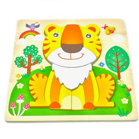 wooden tiger jigsaw