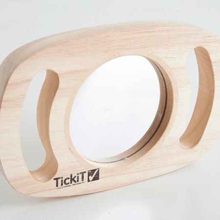 wooden mirror toy