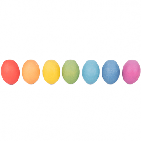 Wooden eggs educational toy