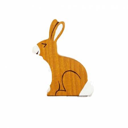wooden hare animal toy