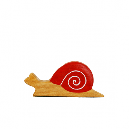 wooden snail animal toy