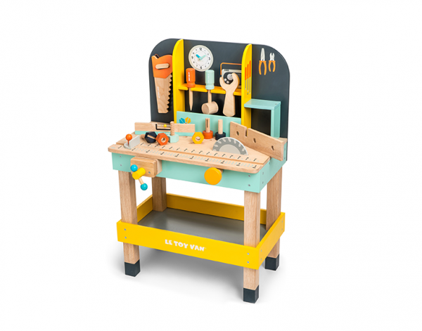 wooden work bench toy