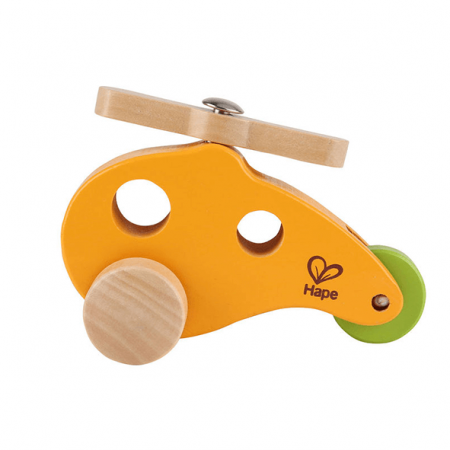 wooden helicopter toy