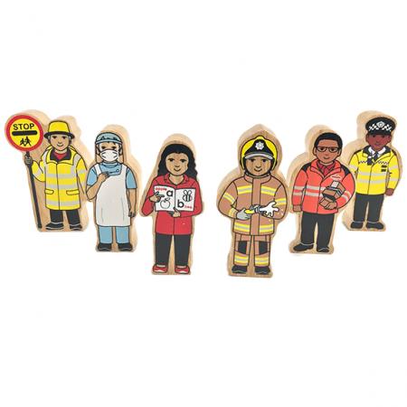 wooden heros figures toy