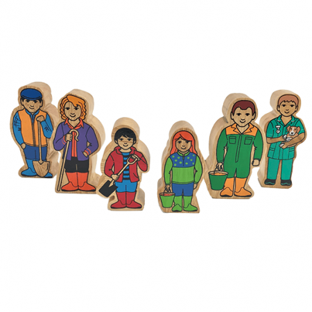 wooden farm figures toy