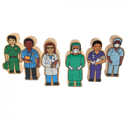 wooden hospital figures toy