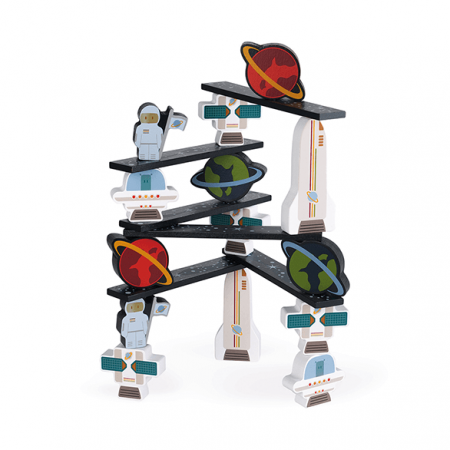 wooden space balance game toy