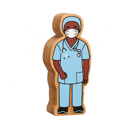 wooden nurse figure toy