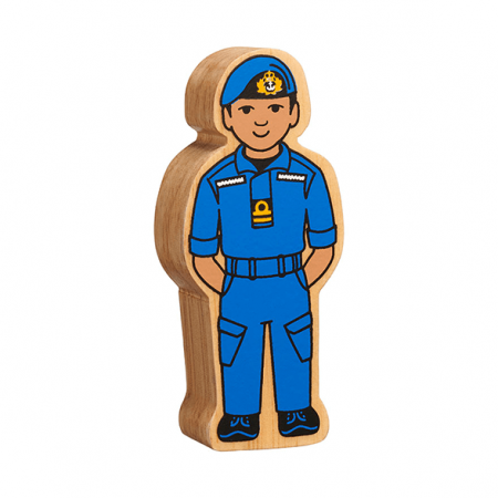 wooden navy officer figure toy