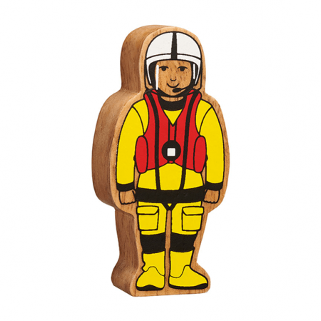 wooden sea rescue figure toy