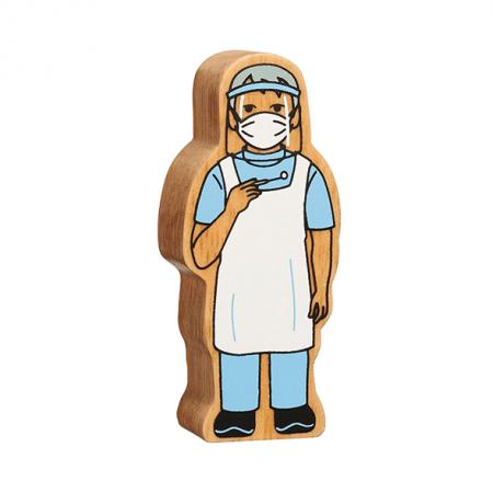 wooden dentist figure toy
