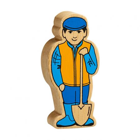 wooden farmer toy