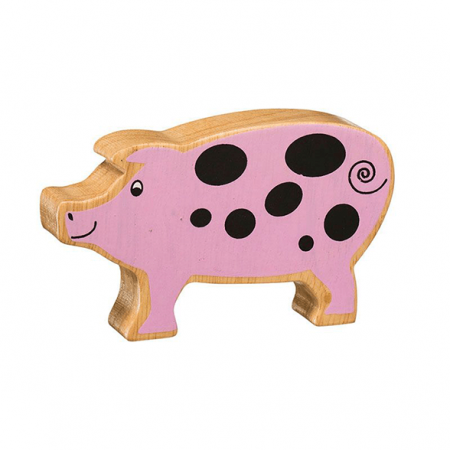 wooden pig animal toy