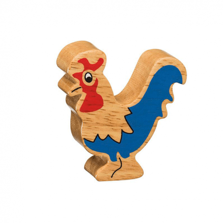 wooden rooster animal toy
