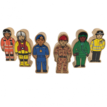 wooden army figures toy