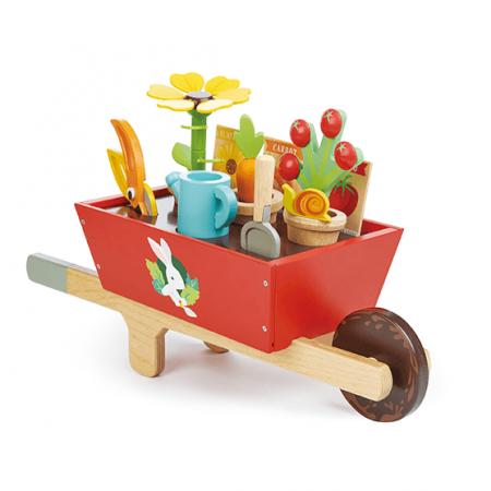 wooden wheelbarrow toy