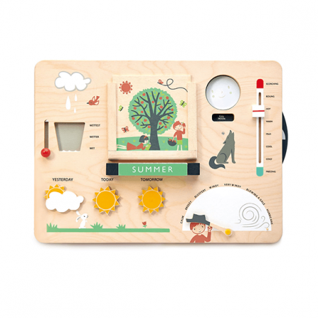 wooden weather watch toy