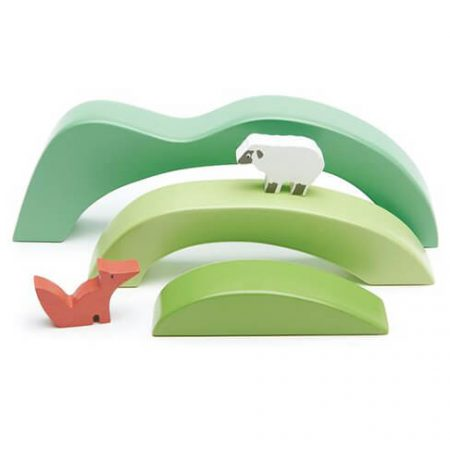 wooden green hills toy