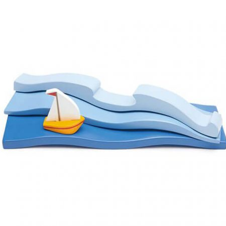 wooden blue water toy